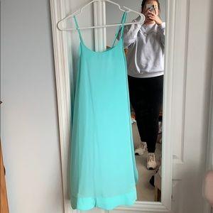 Teal Lauren James Scallop Dress